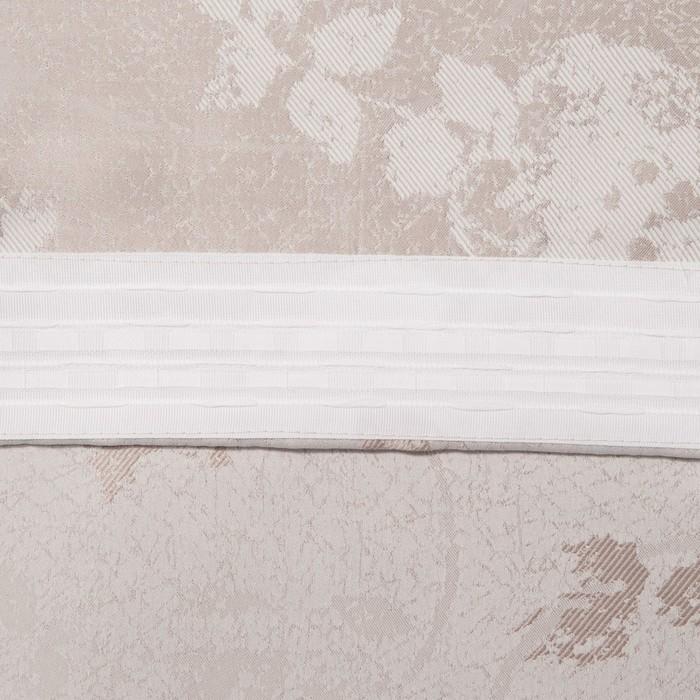 Шторы портьерные жаккард Фиалка светло-бежевый 135*260 2шт.
