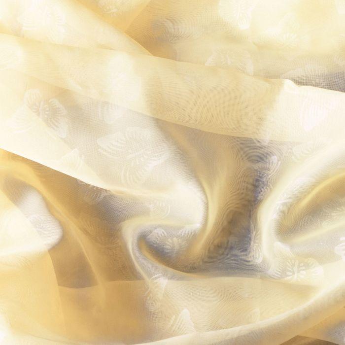 Штора вуаль с тиснением МИКС, ширина 150 см, высота 260 см, цвет светло-бежевый