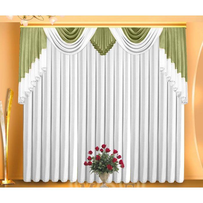 Тюль, размер 400х250 см, цвет белый 7070