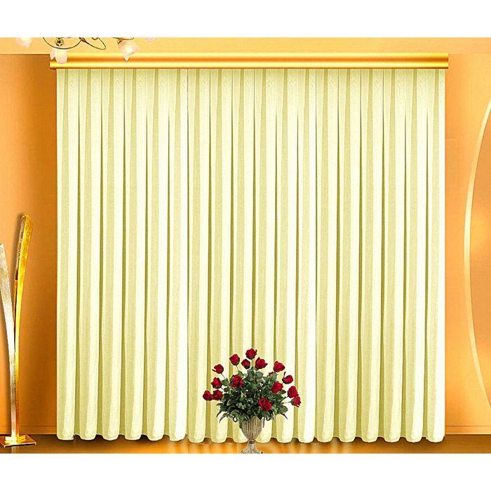 Тюль, размер 400х250 см, цвет крем 7070