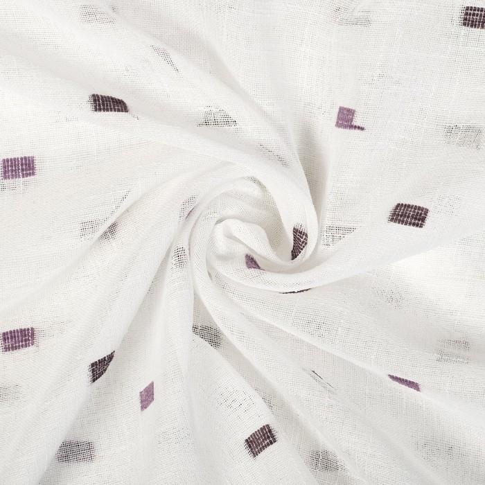 """Тюль """"Этель"""" 200х260 см Геометрия фиолетовый 100% п/э"""