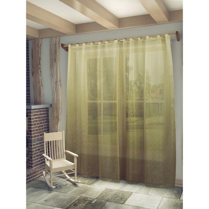 Тюль «Маргарет», ш. 300 х в. 280 см, цвет какао