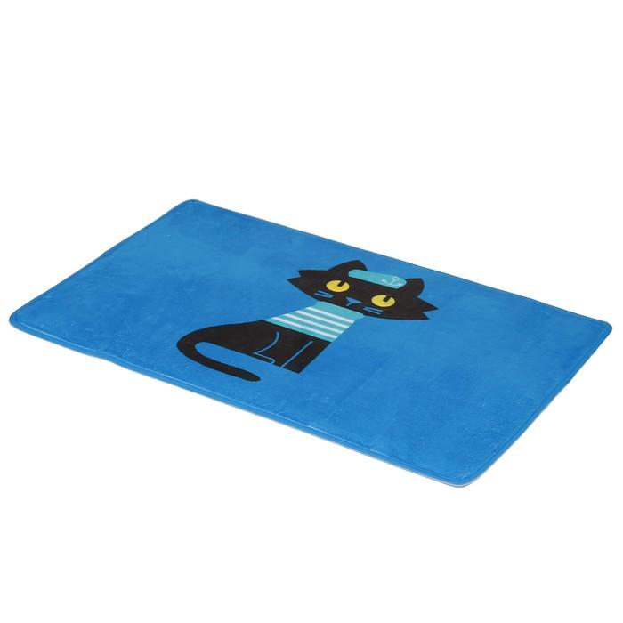 """Коврик для ванны 45×75 см """"Умный кот"""""""