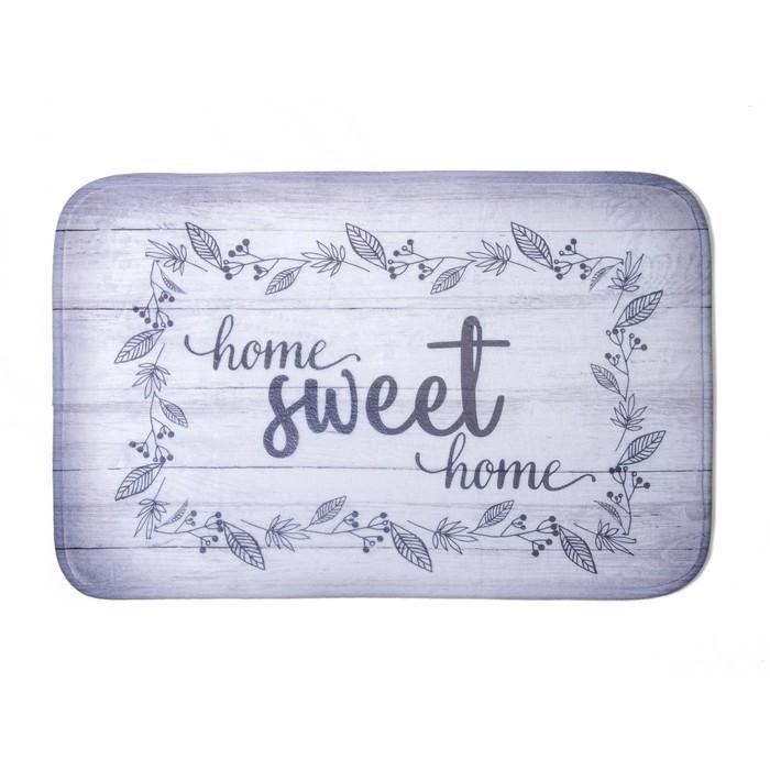 """Коврик для ванной """"Sweet home"""" 40х60 см велюр, поролон 400г/м2"""