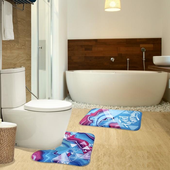 "Коврик для ванной ""Доброе утро"" 40х60 см велюр, поролон 400г/м2"