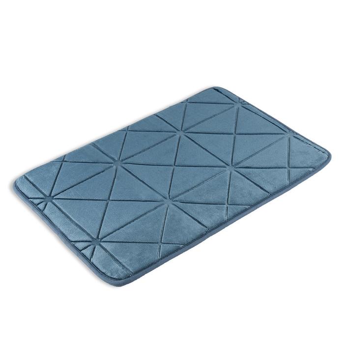 """Коврик для ванной 40×60 см """"Космос"""" , цвет серый"""