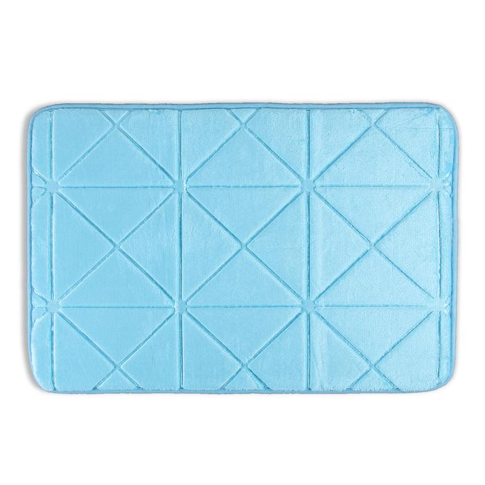 """Коврик для ванной 40×60 см """"Космос"""" , цвет голубой"""