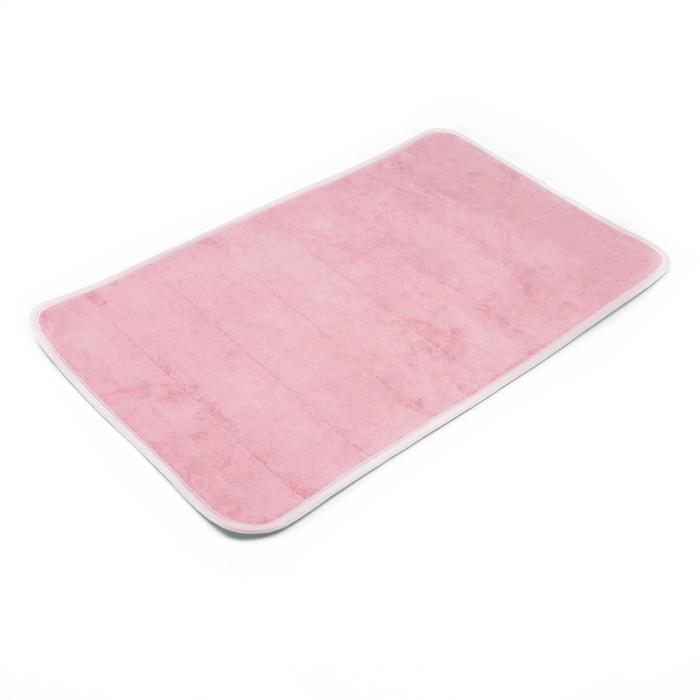 Набор ковриков для ванной и туалета 2 шт, цвет розовый