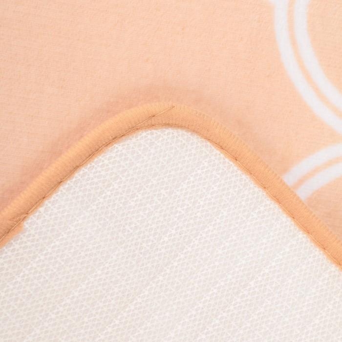 """Набор ковриков для ванны и туалеты """"Виньер"""", 2 шт: 50х80 см, 50х44 см, цвет бежевый"""