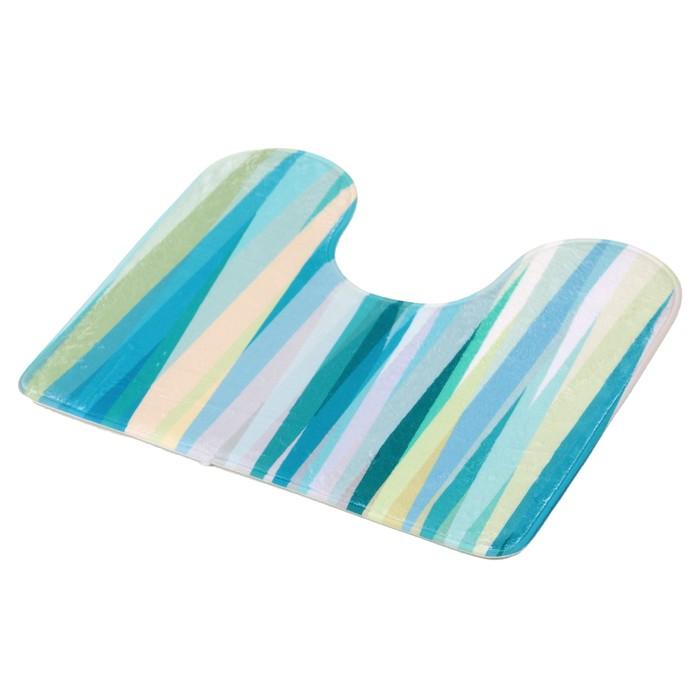 """Набор ковриков для ванны и туалета 45×75, 45×40 см """"Бирюза"""", 2 шт"""