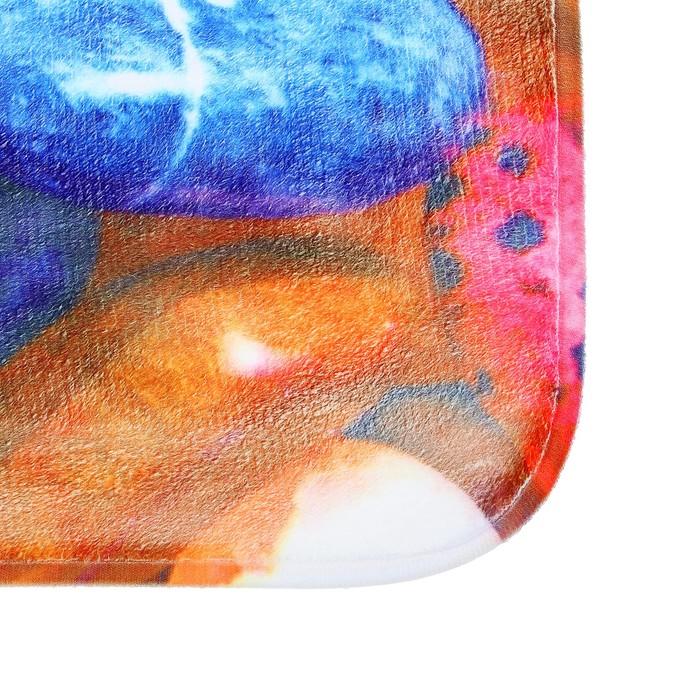 """Набор ковриков для ванной и туалета """"Галька цветная"""", 3 шт"""