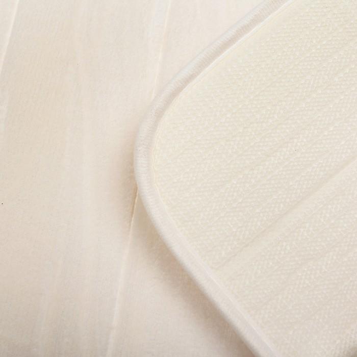 Набор ковриков для ванной и туалета 3 шт, цвет коричневый