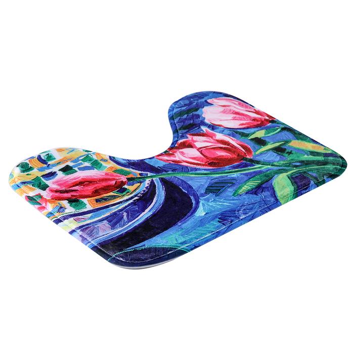 """Набор ковриков для ванной и туалета """"Синь"""", 2 шт: 45×75, 45×40 см"""