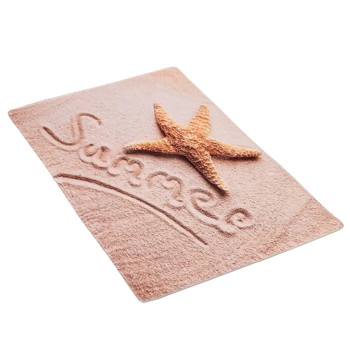 """Набор ковриков для ванны и туалета """"На пляже"""", 2 шт: 45×75, 45×40 см"""