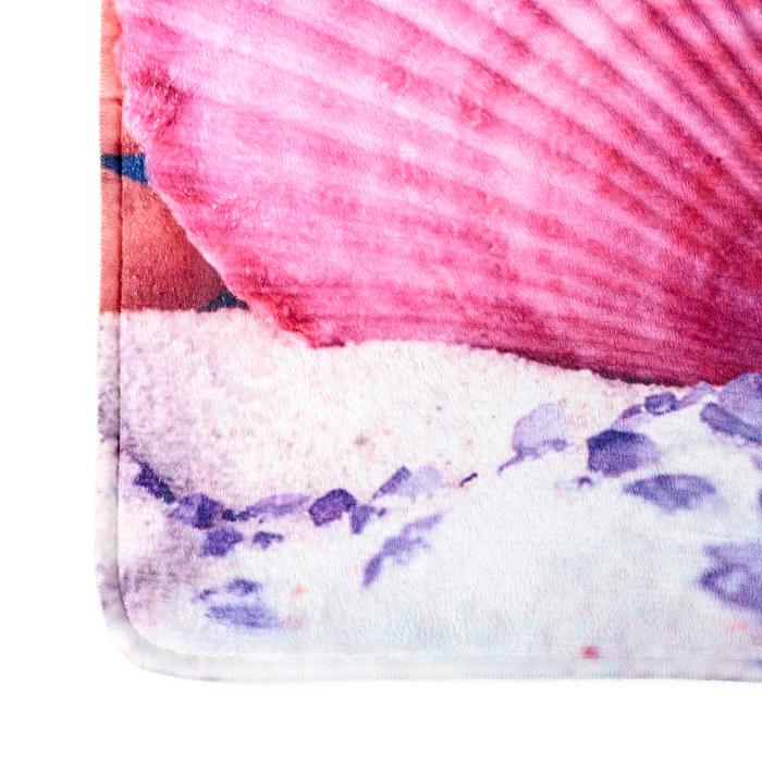 """Набор ковриков для ванной и туалета 50×79, 50×39 см """"Ракушки"""", 2 шт"""
