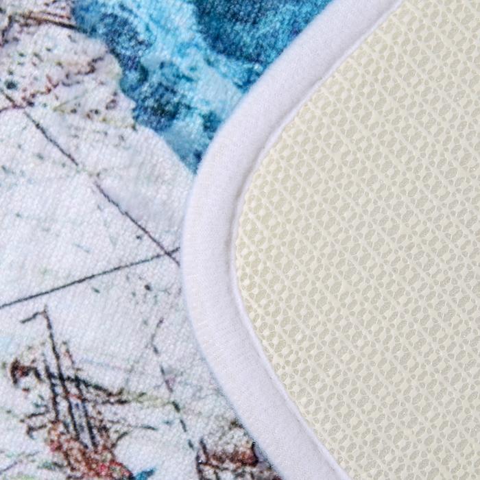 """Набор ковриков для ванной и туалета """"Черепаха"""", 2 шт: 75×45, 45×35 см"""