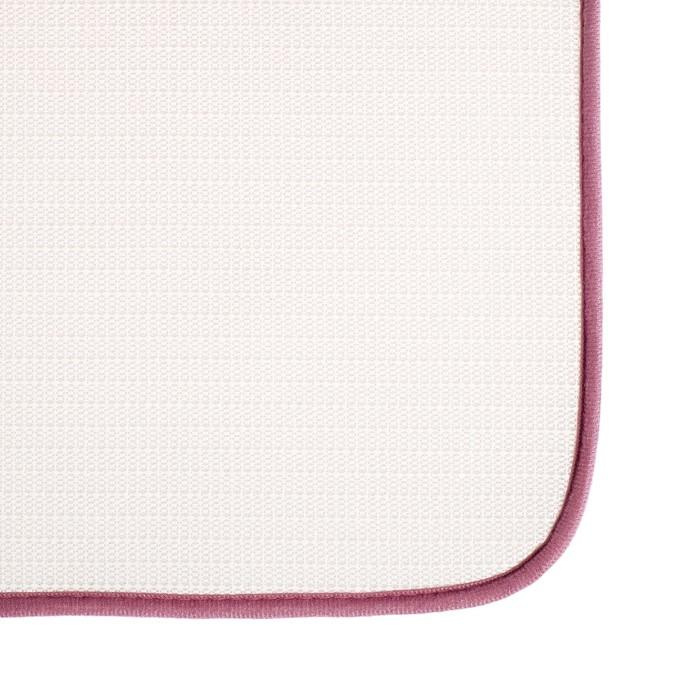 """Набор ковриков для ванны и туалета 50×78, 50×40 см """"Афина"""", 2 шт, цвет розовый"""