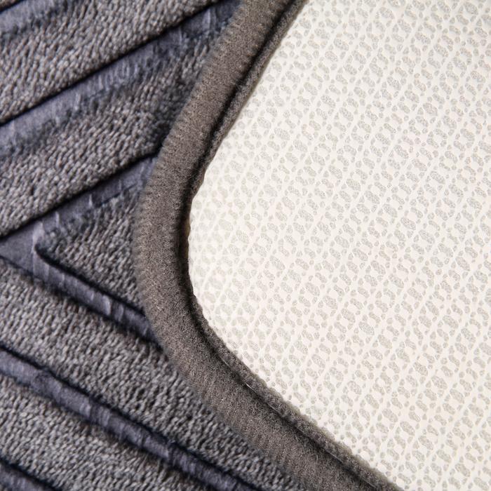"""Набор ковриков для ванны и туалета """"Ромбы"""", 2 шт: 80×50, 50×38 см, цвет серый"""