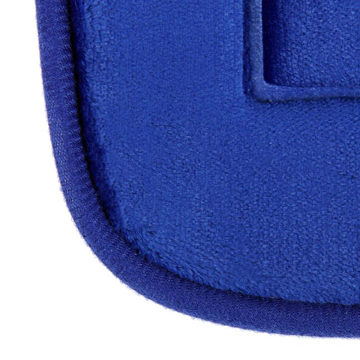 """Набор ковриков для ванной и туалета """"Лютики"""" 3 шт, цвет синий"""