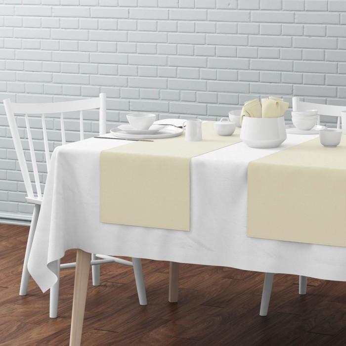 Комплект дорожек на стол «Билли», размер 40 × 150 см - 4 шт, кремовый