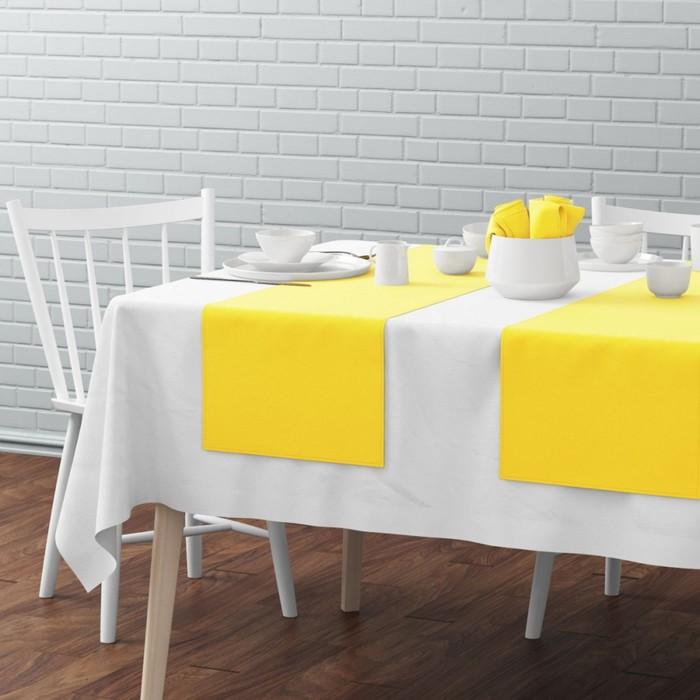 Комплект дорожек на стол «Билли», размер 40 × 150 см - 4 шт, жёлтый