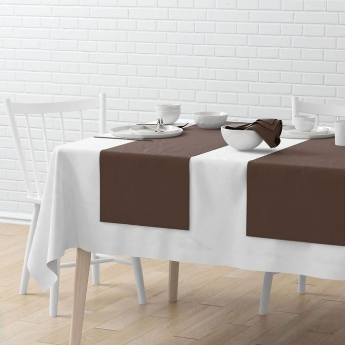 Комплект дорожек на стол «Билли», размер 40 × 150 см - 4 шт, коричневый