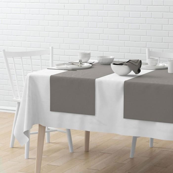 Комплект дорожек на стол «Билли», размер 40 × 150 см - 4 шт, серый