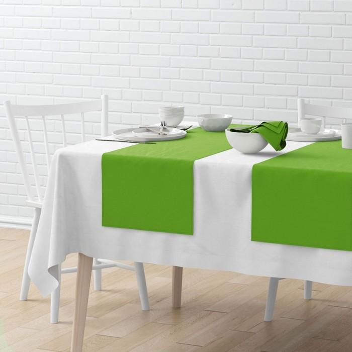 Комплект дорожек на стол «Билли», размер 40 × 150 см - 4 шт, зелёный