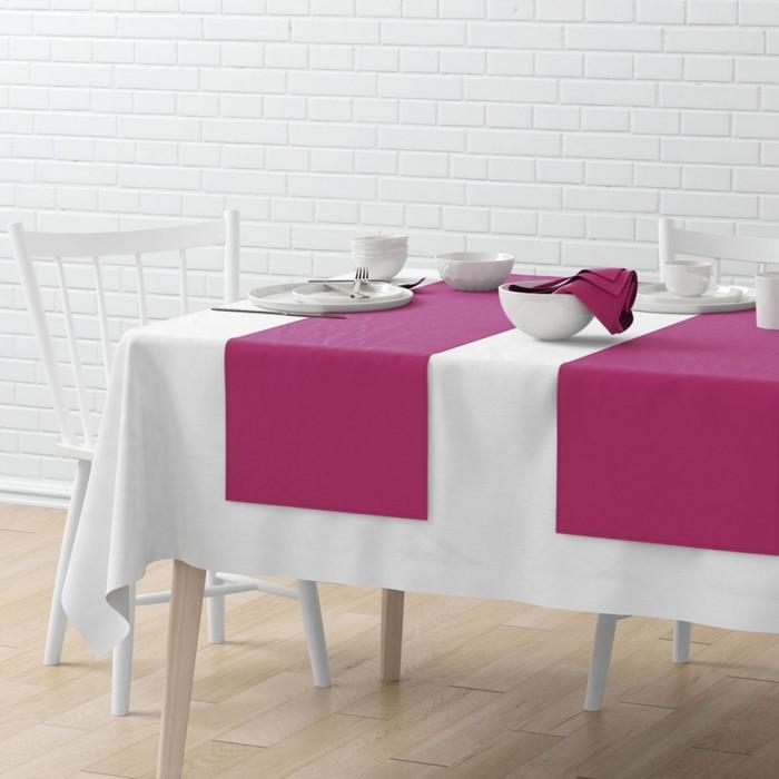 Комплект дорожек на стол «Билли», размер 40 × 150 см - 4 шт, фуксия