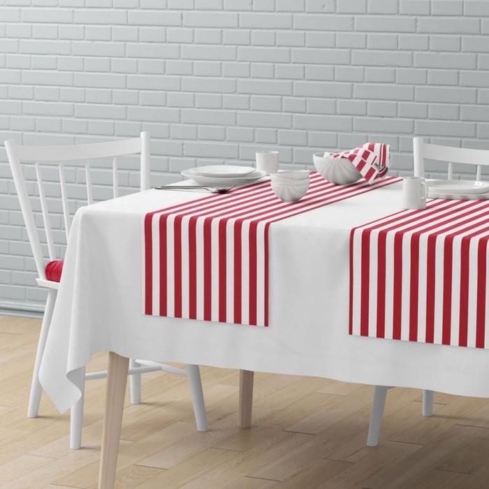 Комплект дорожек на стол «Кембридж», размер 40 × 150 см - 4 шт, красный