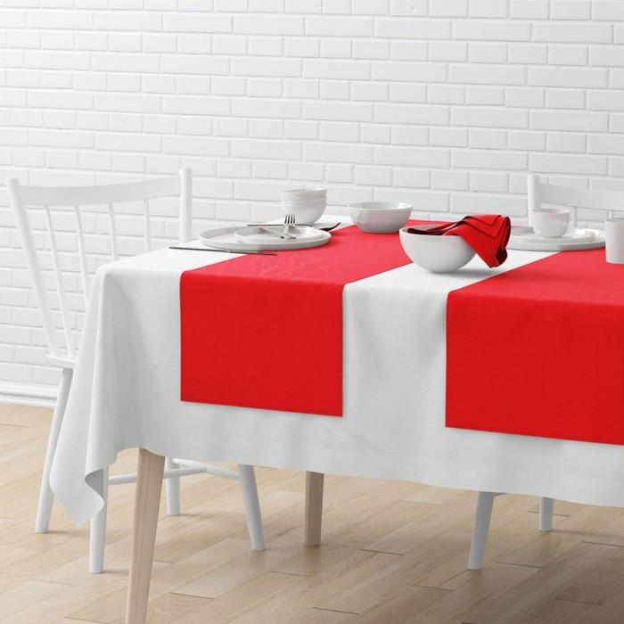 Комплект дорожек на стол «Билли», размер 40 × 150 см - 4 шт, красный