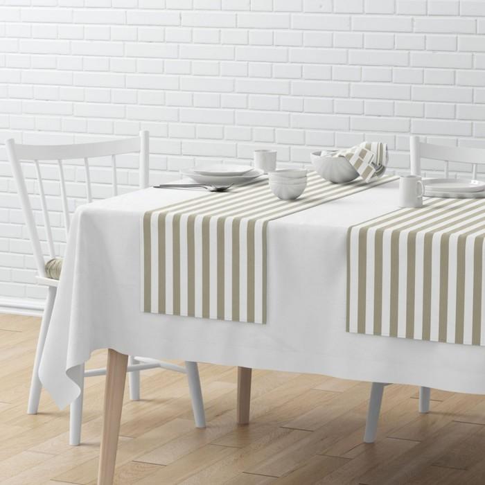 Комплект дорожек на стол «Кембридж», размер 40 × 150 см - 4 шт, бежевый