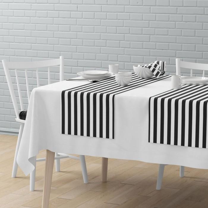 Комплект дорожек на стол «Кембридж», размер 40 × 150 см - 4 шт, мокрый асфальт