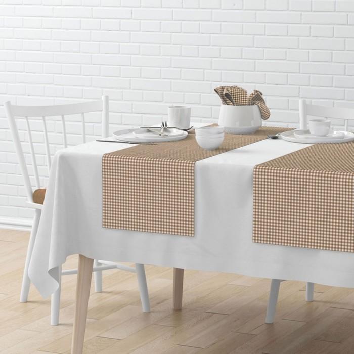 Комплект дорожек на стол «Марси», размер 40 × 150 см - 4 шт, бежевый