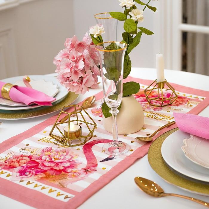 "Дорожка на стол ""Этель"" Фламинго 30х70 см, 100% хл, саржа 190 гр/м2"