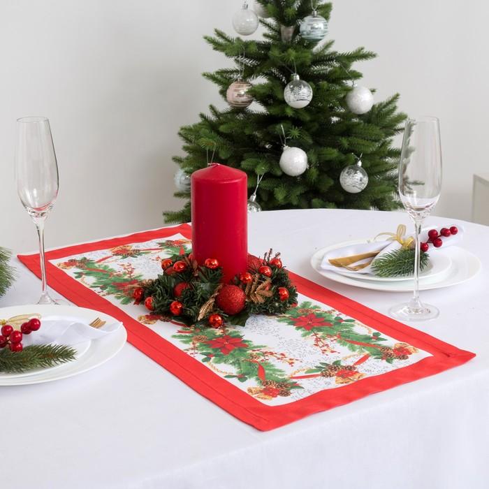 """Дорожка на стол """"Этель"""" Рождественский бал 30х70 см, 100% хл, саржа 190 гр/м2"""