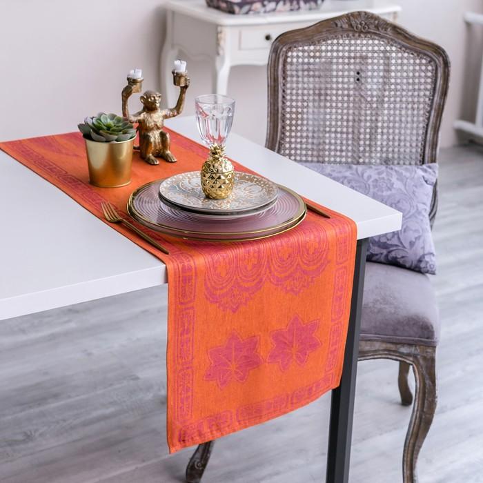 Дорожка на стол Этель Лён «Мэри» 40×155 ± 3 см,100% лён