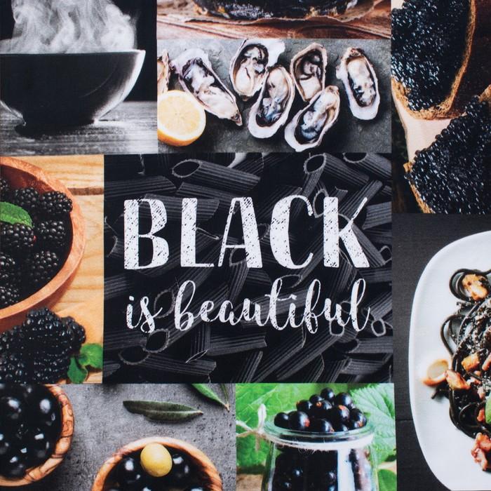 """Дорожка на стол """"Этель"""" BLACK 40х146 см, 100% хл, саржа 190 гр/м2"""