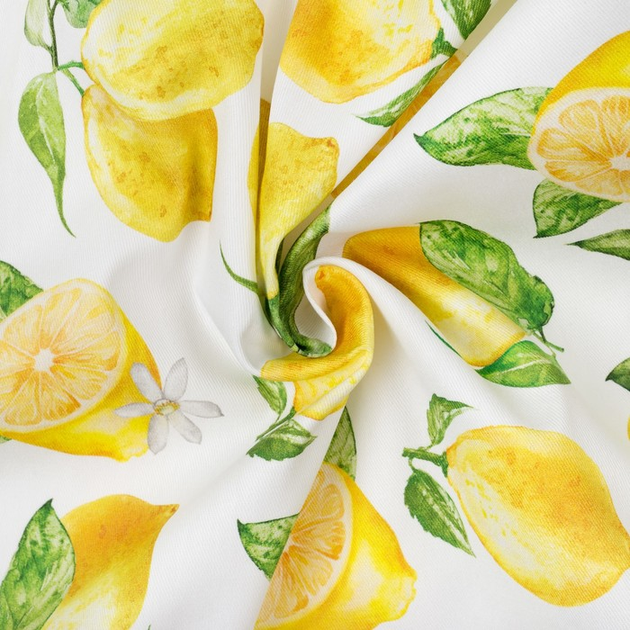 "Дорожка на стол ""Лимоны"" 40*146 см, 100% хл, саржа 190 гр/м2"