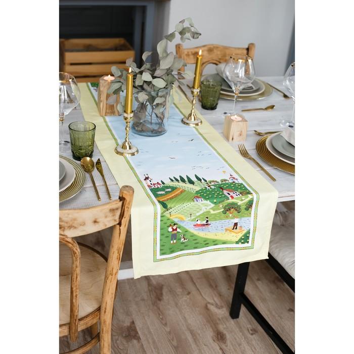 """Дорожка на стол """"Тоскана"""" 40*146 см, 100% хл, саржа 190гр/м2"""