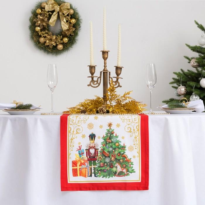 Дорожка на стол «Этель: Новогодняя сказка», 40 × 147 см, 100 % хлопок, саржа, 190 г/м²