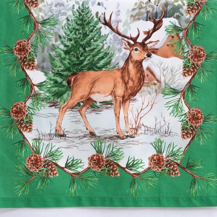 Дорожка на стол «Этель: Новогодний лес», 40 × 147 см, 100 % хлопок, саржа, 190 г/м²