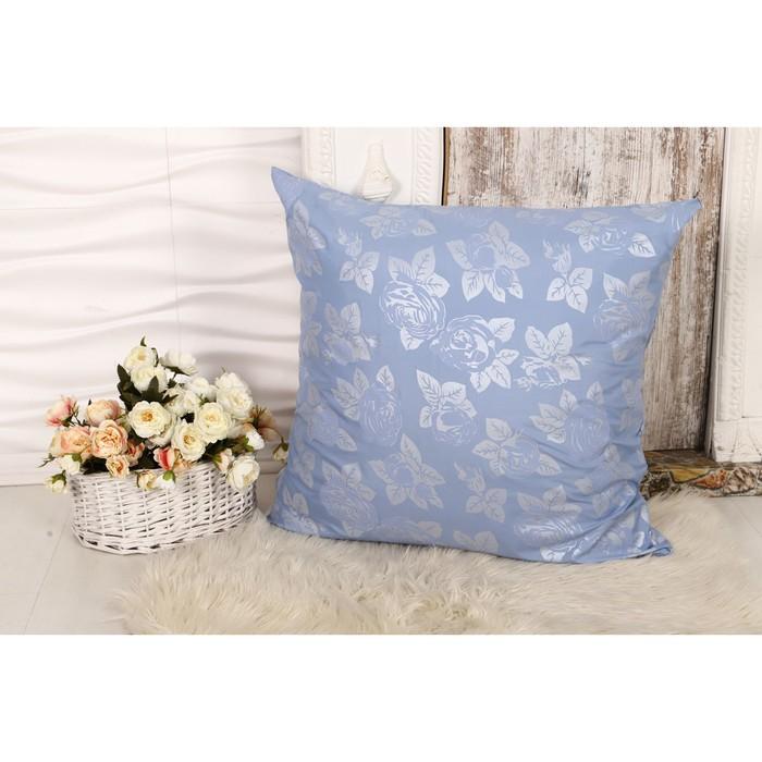 Наперник 70х70 см на молнии Роза голубая