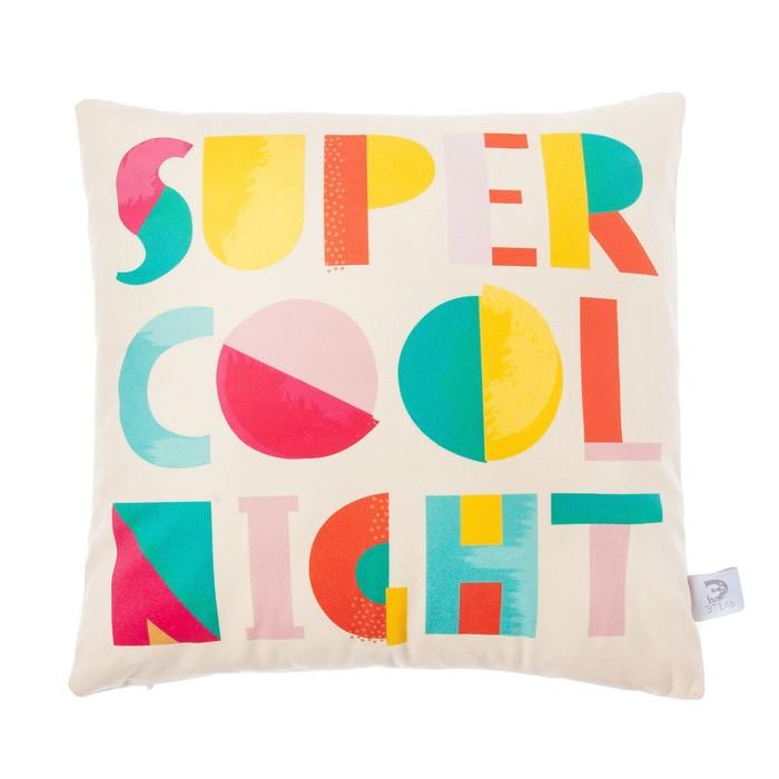 "Чехол на подушку ""Этель"" Cool night 40х40 см, 100% п/э, велюр"