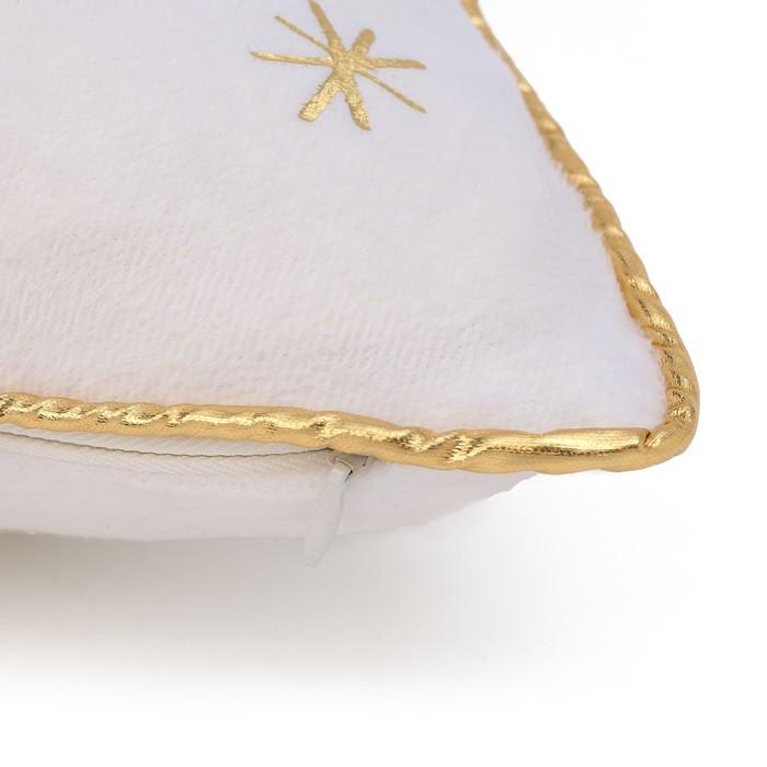 """Чехол на подушку """"Этель"""" Новый год принесет счастье 40х40 см, 100% п/э, велюр"""