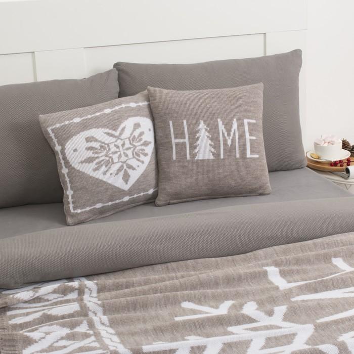 "Чехол на подушку вязаный ""Этель"" Home, 35х35 см, 100% полиэстер"