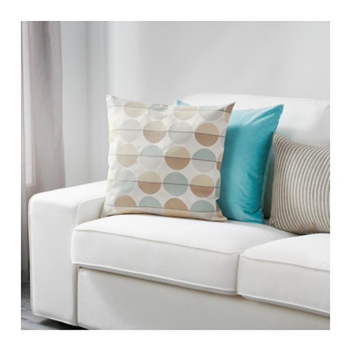 Чехол на подушку ОТТИЛЬ, размер 50х50 см, цвет бежевый/разноцветный