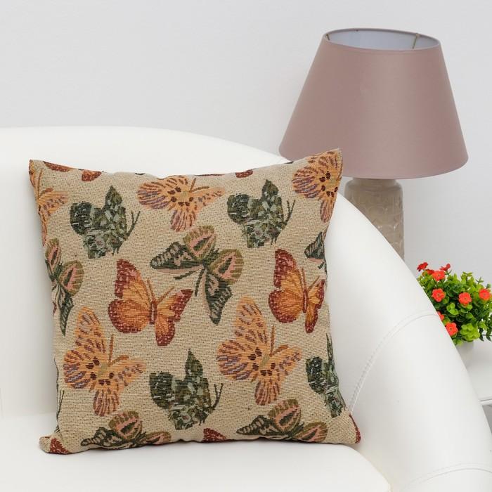 Наволочка декоративная Этель «Бабочки» 40×40 см, пл. 280 г/м², 30% хлопок, 70% п/э