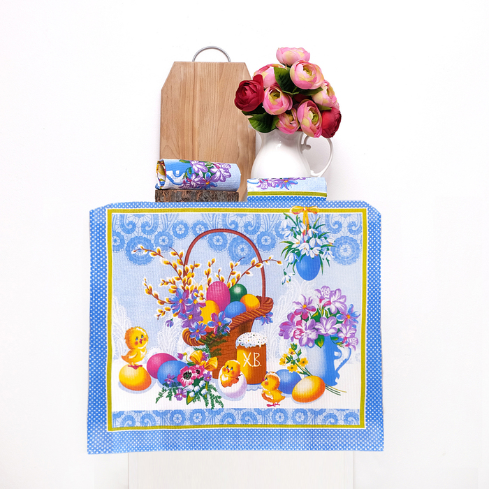 Набор полотенец DomoVita Светлый праздник, 50х60 см 3 шт в коробке