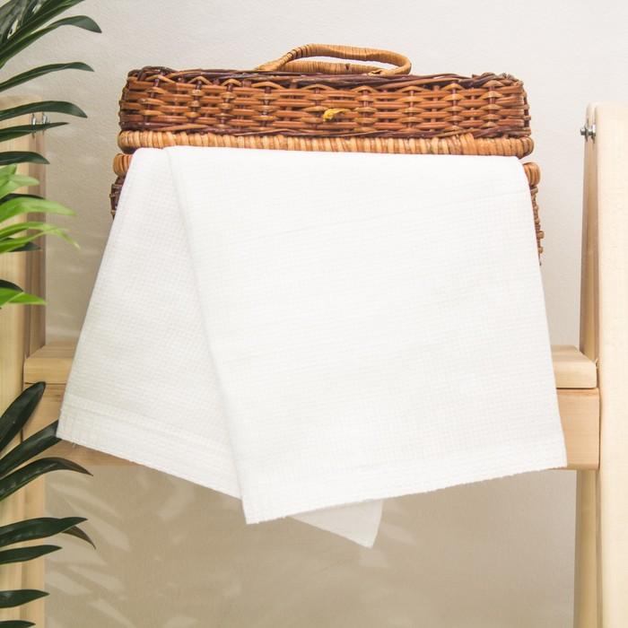 """Полотенце вафельное однотонное """"Доляна"""", цвет белый, 45х80± 3 см"""